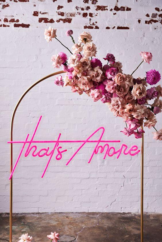 Thats amore neon wedding sign Ibiza