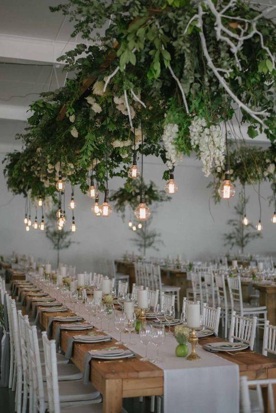 Ibiza hanging wedding flowers
